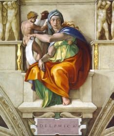 Michelangelo, Delphic Sibyl, c. 1510, Vatican City, Sistine Chapel