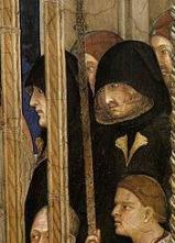 Simone Martini, Mourners, Death of St Martin, 1317, Cappella di San Martino, Assisi, San Francesco, Lower Church.