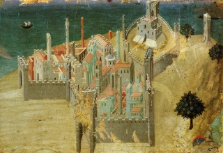 Ambrogio_Lorenzetti_City_by_the_Sea_1311-20