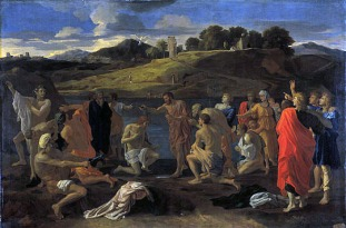 Nicolas Poussin, Baptism, 1647-48, Edinburgh, National Gallery of Scotland