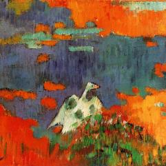 Paul Gauguin, Breton Woman and Goose by a Pond, 1888, Hartford, Wadsworth Atheneum.