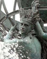 Amérique, Les quatres parties du monde (La Fontaine de l'Observatoire), bronze, 1868-73, Paris, Obervatoire.