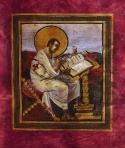 St. Matthew, Coronation Gospels, c. 800, Vienna, Schatzkamm