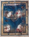 Four Evangelists, Coronation Gospels, c. 800, Vienna, Schatzkamm