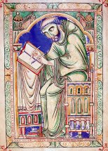 Scribe Eadwine, Eadwine Psalter, c. 1160, Cambridge, Trinity College Library