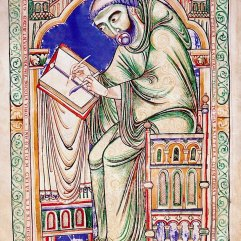 Scribe Eadwine, Eadwine Psalter, c. 1160, Cambridge, Trinity College Library