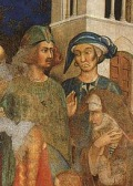 Simone Martini, Miracle of the Child(with alleged self-portrait of Simone), 1317, Cappella di San Martino, Assisi, San Francesco, Lower Church.