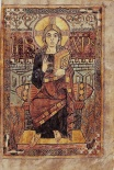 Christ in Majecty, Godescalc Gospels, 768, Paris, Bibliothèque Nationale Ms. Lat. 1203.