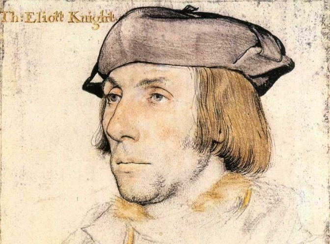 HANS HOLBEIN THE YOUNGER: Sir Thomas Elyot