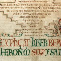 Hugo Pictor, Jerome's Commentary on Isaiah, late 11th c., Oxford, (Bodleian Library, MS. Bodl. 717.