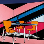 Patrick Caufield, Interior Cafe Afternoon, 1973
