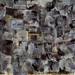 Jasper Johns, Grey Map, 1964, Los Angeles, Museum of Contemporary Art