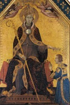 Simone Martini, St Louis of Toulouse Crowns Robert II of Anjou, 1316, Naples, Museo Nazionale Capodimonte.