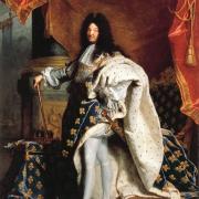 Hyacinthe Rigaud, Louis XIV in Coronation Robes, 1701, Paris, Louvre.