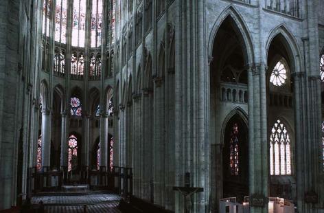 Transept and Choir, Beauvais Cathedral, begun 1225.