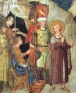 Simone Martini, St Martin Renounces his Weapons, 1317, Cappella di San Martino, Assisi, San Francesco, Lower Church.