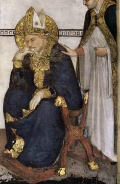 Simone Martini, Meditation of St Martin, 1317, Cappella di San Martino, Assisi, San Francesco, Lower Church.