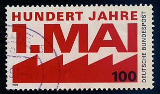 100th Anniversary May Day, German Commemorative Stamp, 1990