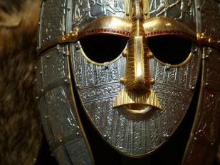 Helmet, Sutton Hoo Ship Burial, c. 630, London, British Museum.