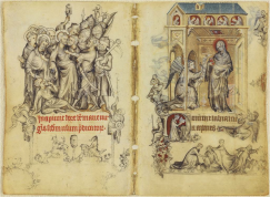 Arrest of Christ and Annunciation, Jean Pucelle, Hours of Jeanne d'Evreux, 1325, New York, Cloisters