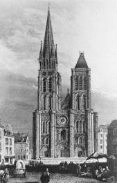 West façade (18thc. engraving), Saint-Denis