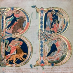 Beatus Page, Winchester Bible. 1130+ Winchester, Winchester Cathedral Priory