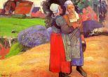 Paul Gauguin, Paysannes Bretonnes. 1894, Paris. Musée d'Orsay.