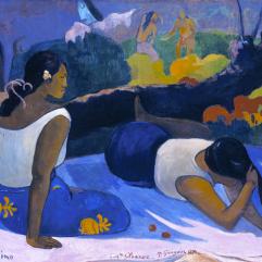 Paul Gauguin, Arearea no varua ino. Reclining Tahitian Women, 1894, Copenhagen, Ny-Carlsberg Glyptothek