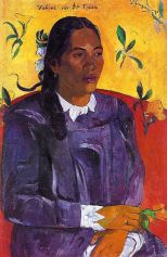 Paul Gauguin, Vahine no te tiare (Woman with a Flower), 1891, Copenhagen, Ny-Carlsberg Glyptothek