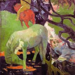Paul Gauguin, Le Cheval Blanc, 1898, Paris, Musée d'Orsay.