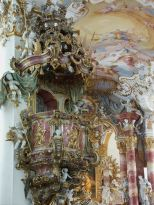 Pulpit, Wieskirche, Germany