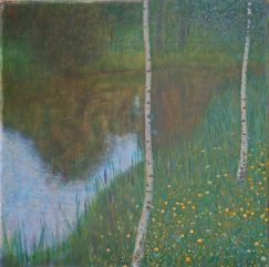 Lakeside with Birch Trees, 1901