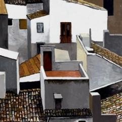 Renato Guttuso, Terrazzino e tetti alla Kalsa, 1976
