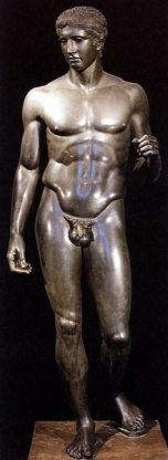 Polykleitos of Argos, Doryphoros, c. 440 BC, Munich, Glyptothek.
