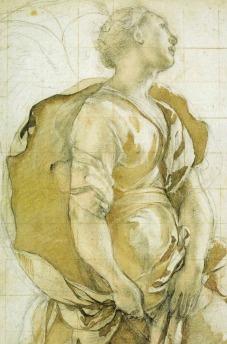 Jacopo Pontormo, Study of Angel for the Annunciation in the Capponi Chapel of Sta Felicità, c. 1527/28, Florence, Gabinetto Disegni e Stampe degli Uffizi.