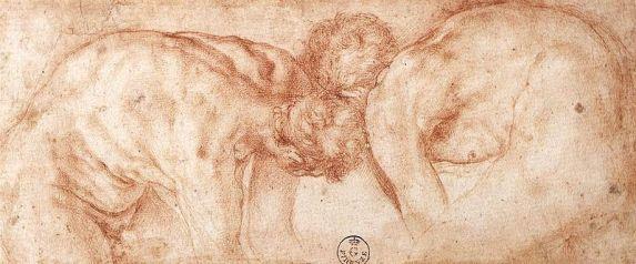 Jacopo Pontormo, Two Nudes Compared, Florence, Gabinetto Disegni e Stampe degli Uffizi.