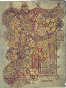 Monogram of Christ (Chi Ro), Book of Kells, c. 800, Dublin, National Library of Ireland.