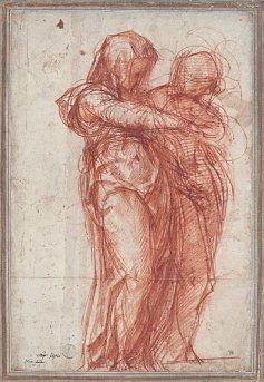 Jacopo Pontormo, Two Standing Women, after 1530, Munich, Staaliche Graphische Sammlung.