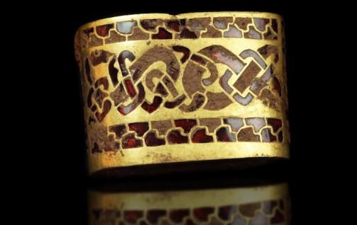 Staffordshire Hoard, Wristband, hiberno-saxon, 7thc, Birmingham, Birmingham Museum of Art.