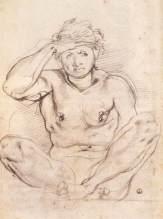 Jacopo Pontormo, Study for Vertumnus and Pomona, 1519, Florence, Gabinetto Disegni e Stampe degli Uffizi.