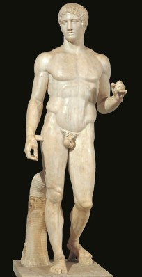 Polykleitos of Argos, Doryphoros, c. 440 BC, Naples, Museo Archaeologico Nazionale.