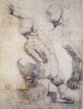 Raphael, Seated Male Figure, 1511/12, Oxford, Ashmolean Museum.