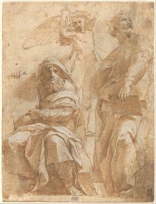 Raphael, Prophets Hosea and Jonah, 1510, London, National Gallery of Art.