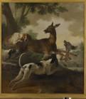 Jean-Baptiste Oudry, La châsse au chevreuil, 1725, Rouen, Musée des Beaux Arts.
