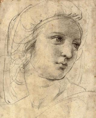 Raphael, Head of a Muse - Study for Parnassus, 1508, Private Collection.