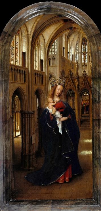 Jan van Eyck, Virgin in a Church, 1431, Berlin, Staatliche Museen zu Berlin