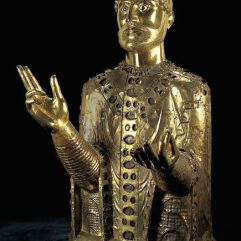 Reliquary Bust of Saint-Baudîme, 12thc., Conques, Cathedral Treasury.