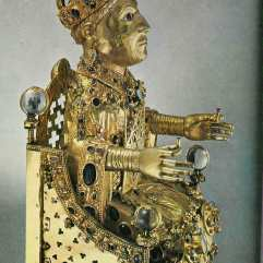 Reliquary Statue of Sainte-Foi, 10thc., Conques, Cathedral Treasury.