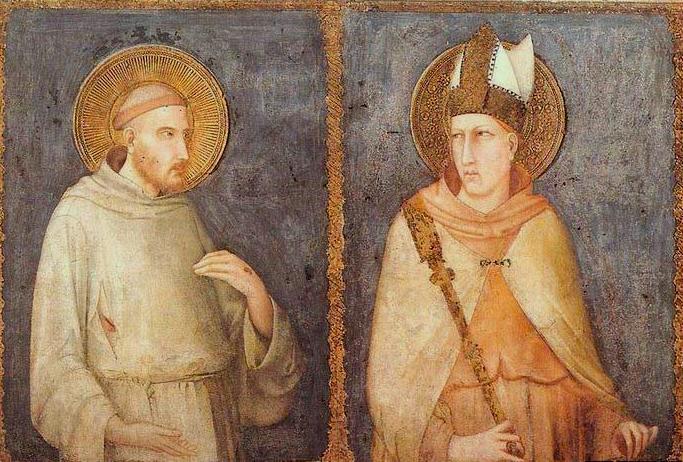 Simone Martini (ca 1284-1344): De hellige Frans av Assisi og Ludvig av Toulouse (1318), i den nedre basilikaen San Francesco i Assisi