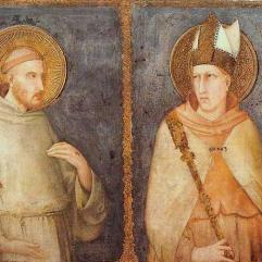 Simone Martini, St Francis of Assisi and St Louis of Toulouse, 1318, Assisi, San Francesco, Lower Church.